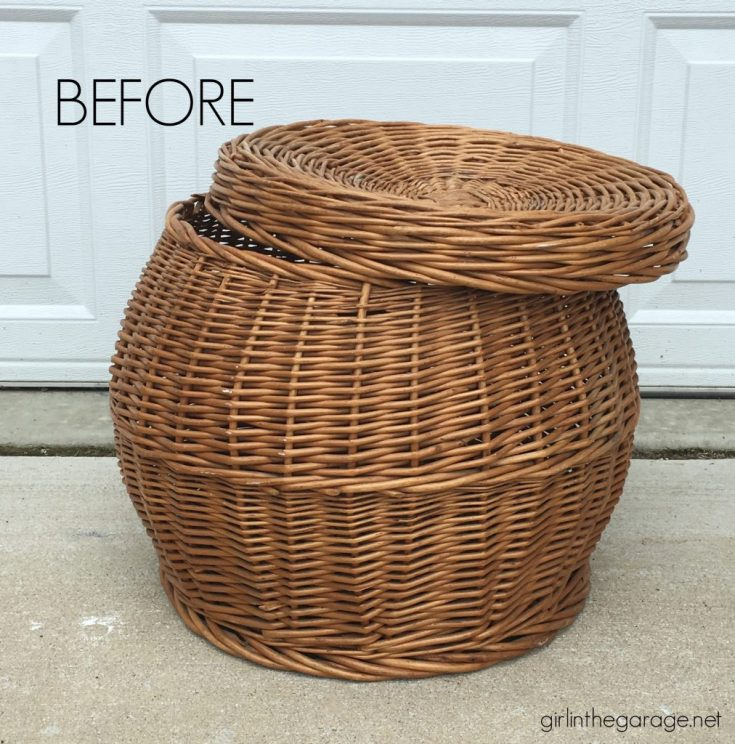 Thrift Store Basket Makeover