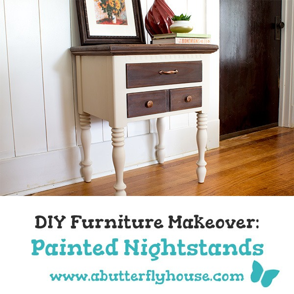 Before and After: Painted Nightstands