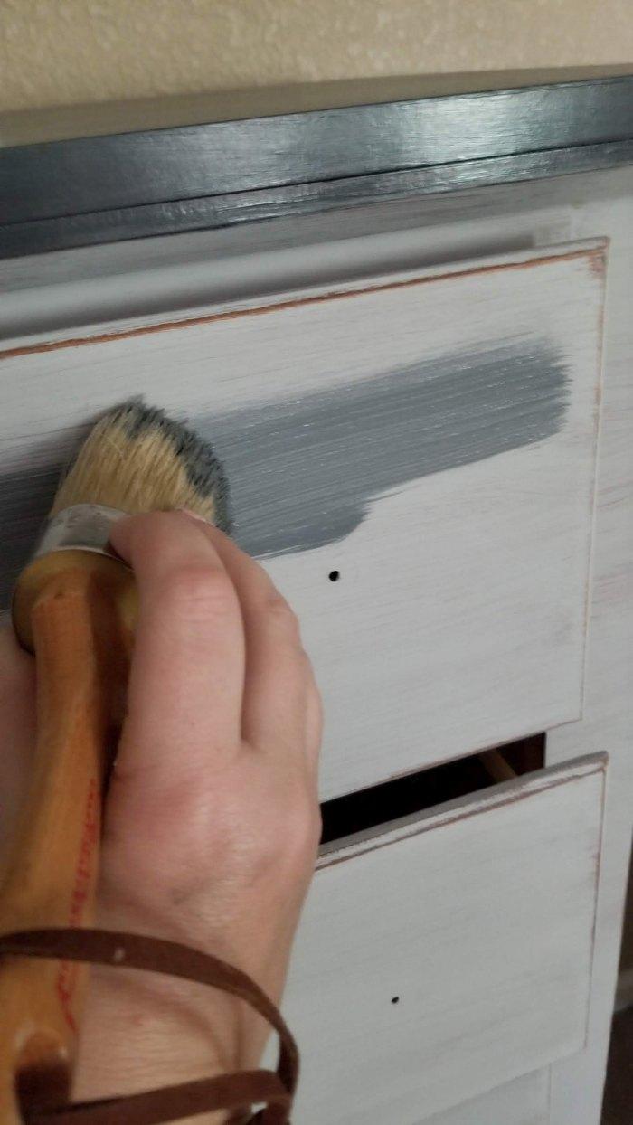 grey chalk paint weathered