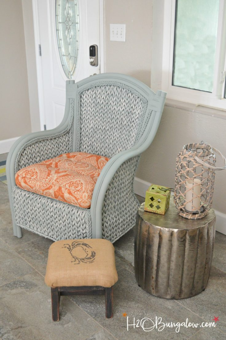 How To Paint Wicker Furniture Quickly and Easily