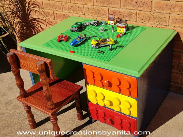 Old Study Desk Repurposed into a Lego/Activity Table