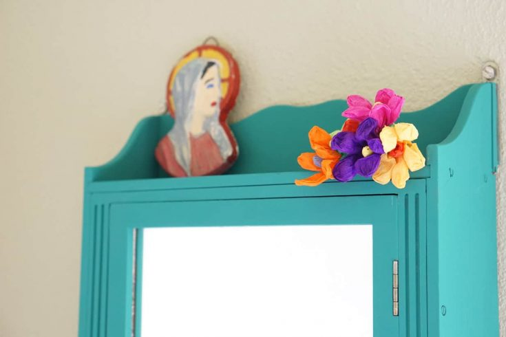 Upcycled Vanity Cabinet with Chalk Paint - DIY Candy
