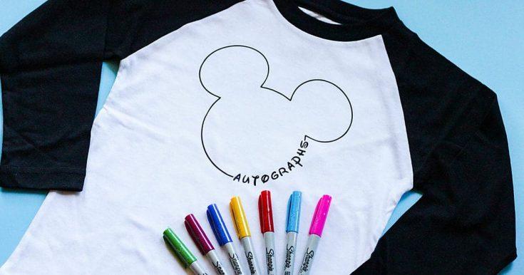 DIY Disney Autograph Shirt • The Pinning Mama