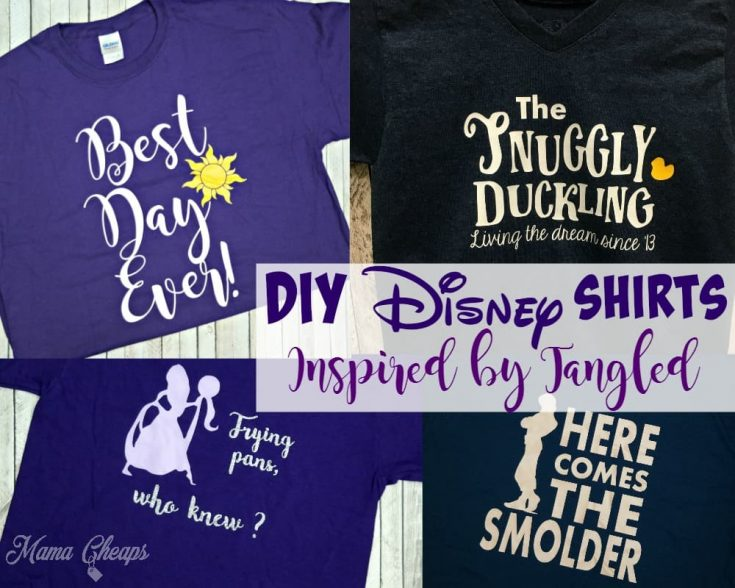 DIY Disney Shirts Inspired by Tangled Movie