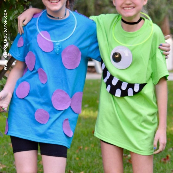 Easy Monsters Inc Costumes Mike and Sulley