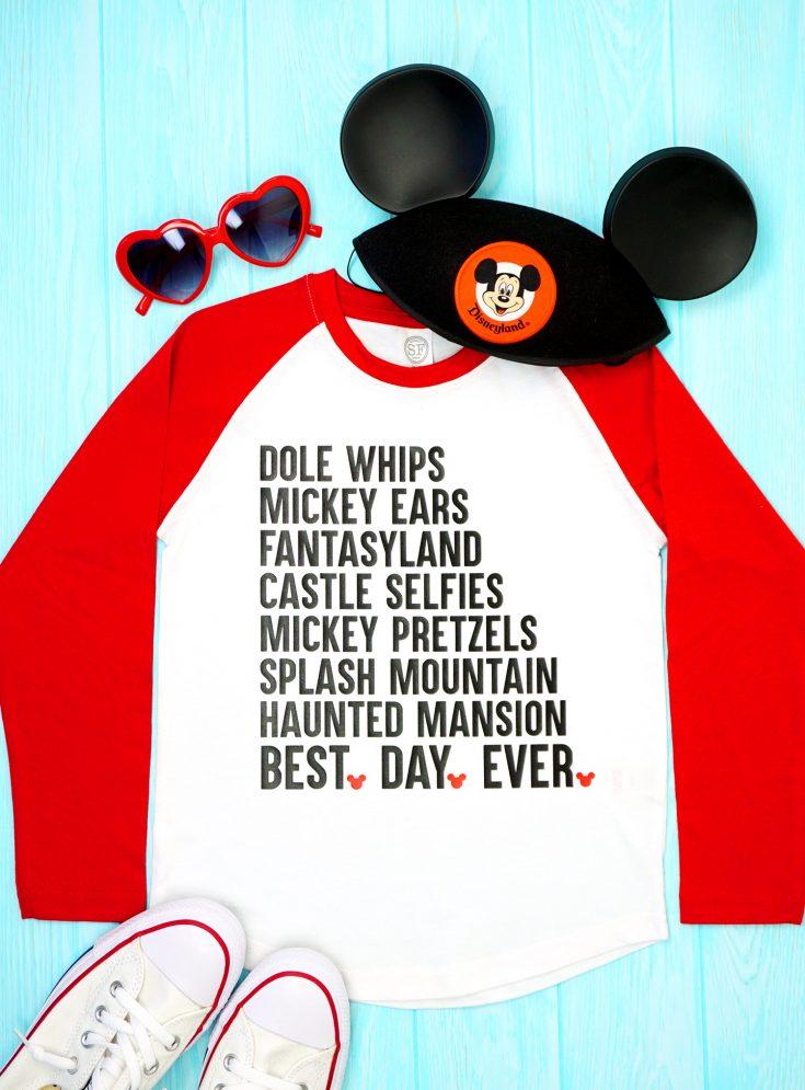 """""""Best Day Ever"""" Disney Shirt + SVG File"""