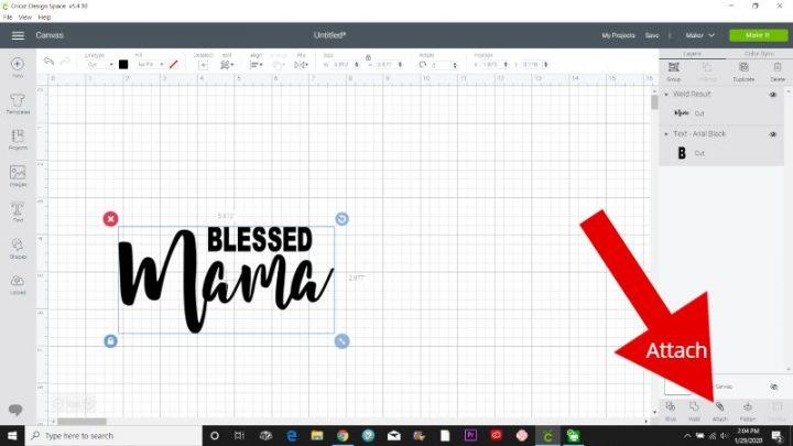 attach cricut design space tutorial