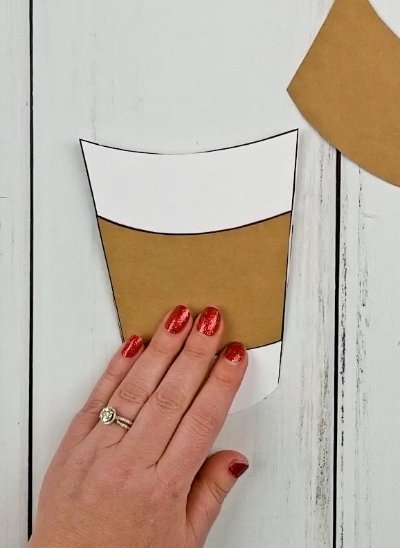 coffee cup gift card holder template free
