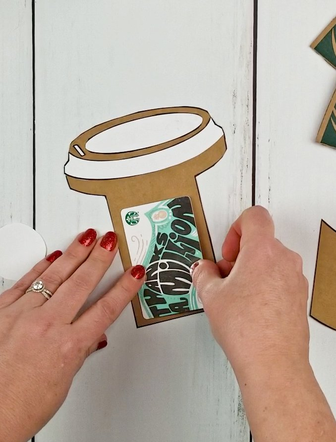 coffee cup gift card holder template pdf