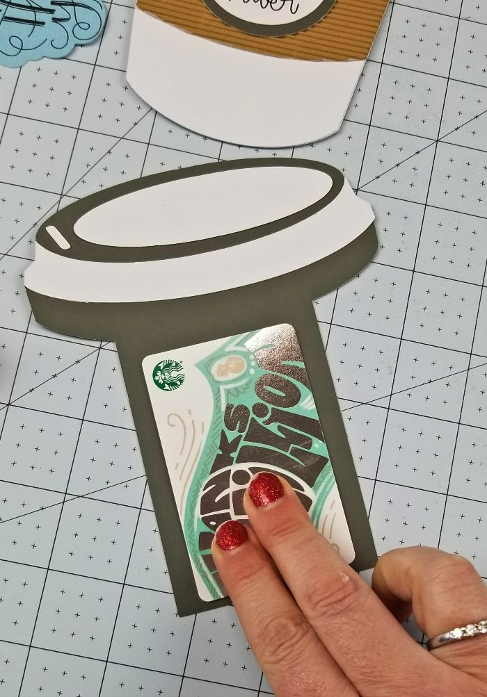 diy coffee cup gift card holder file