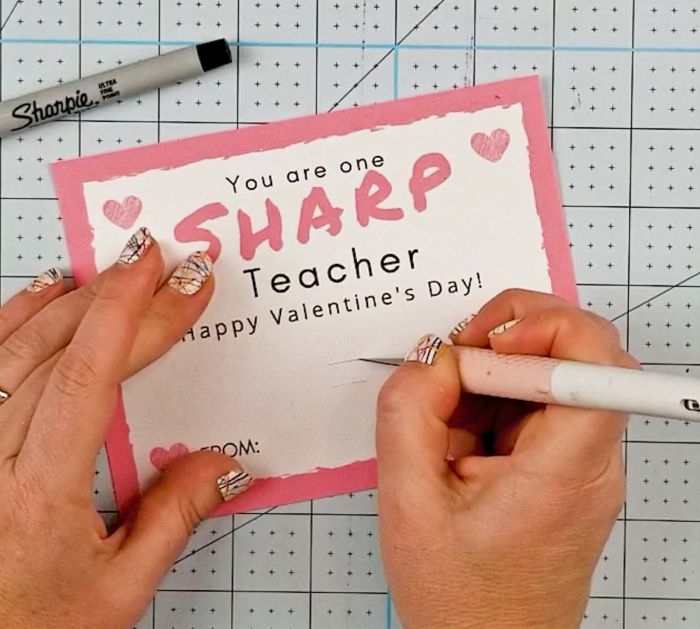 diy teacher valentines gift