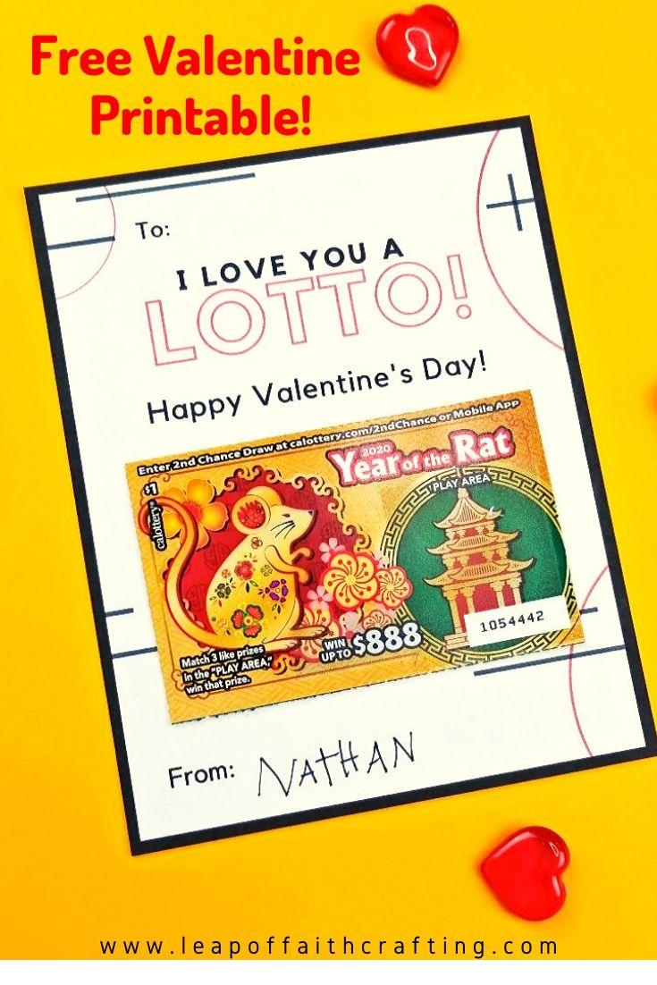 lottery valentine printable