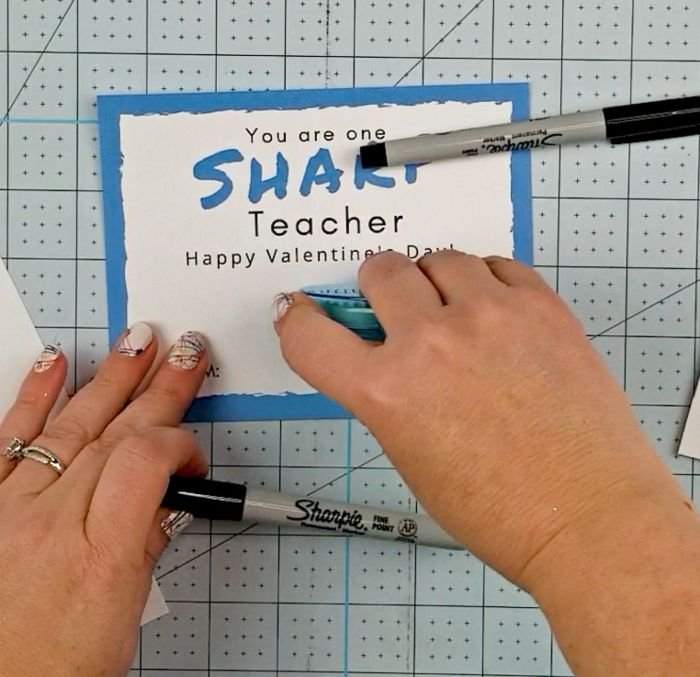 sharpie valentine for teachers
