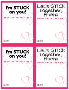 stuck on you valentines pdf