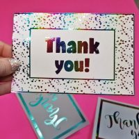 DIY Foil Card: Easy and Cute Thank You Cards!