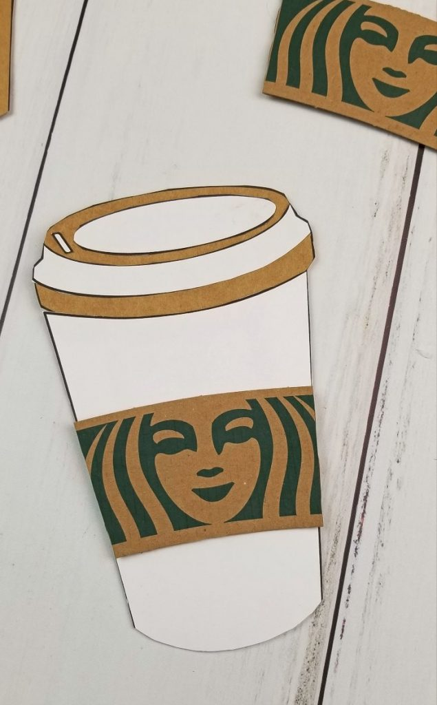 coffee cup gift card holder template