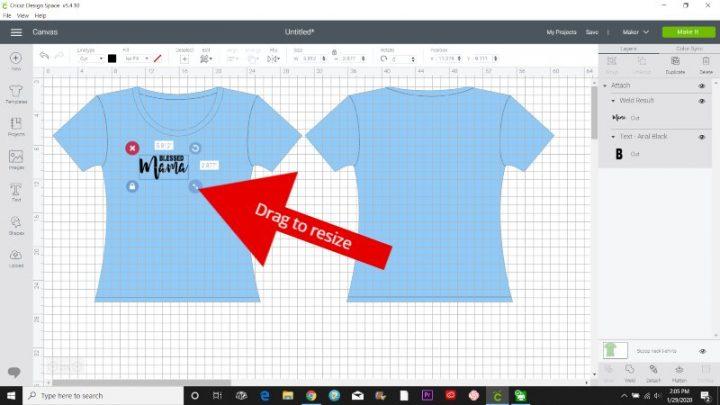 using templates cricut design space