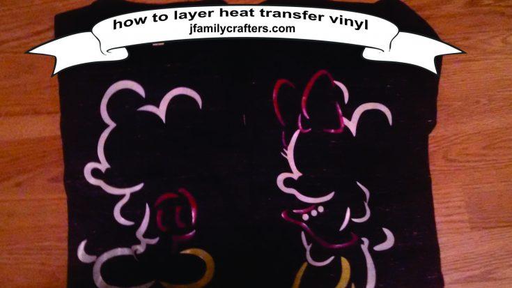 Disney Shirt with Layered Vinyl