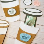coffee cup gift card holder diy