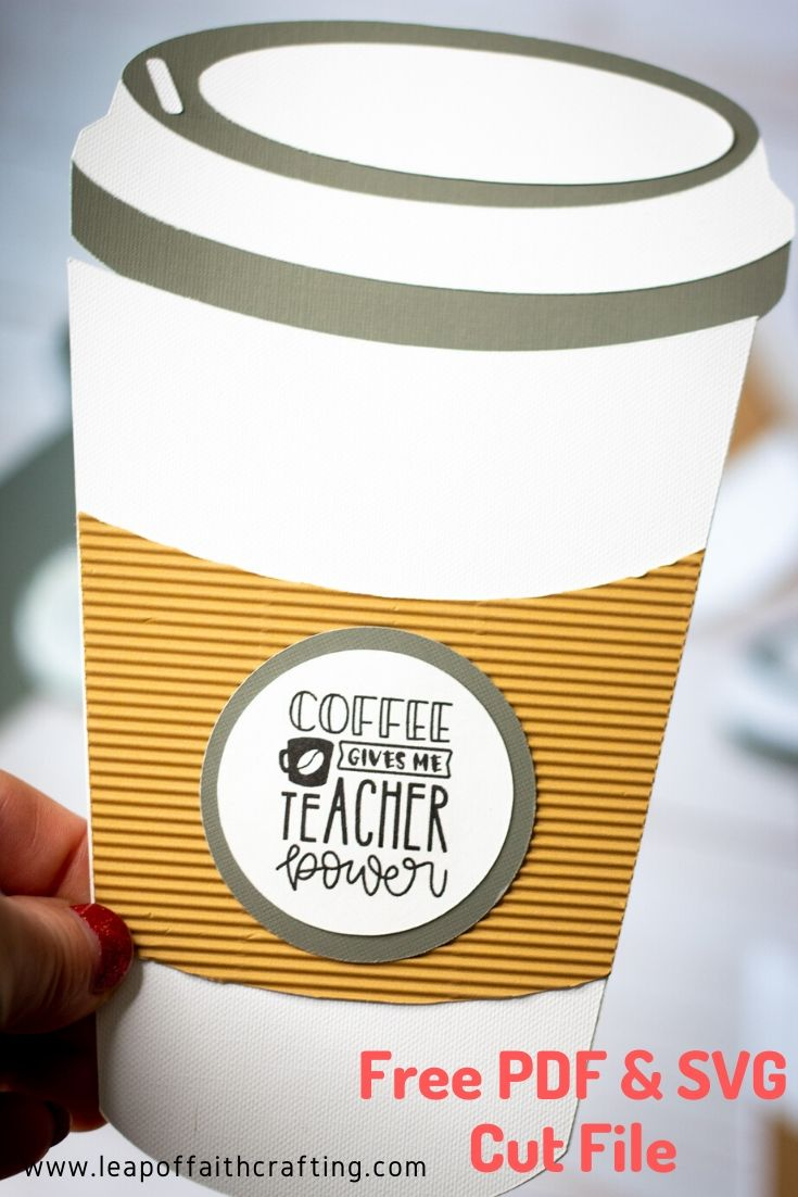 coffee cup gift card holder svg