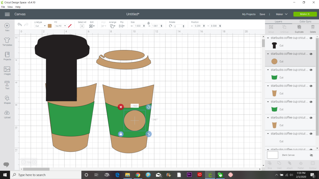 free cricut coffee mug svg