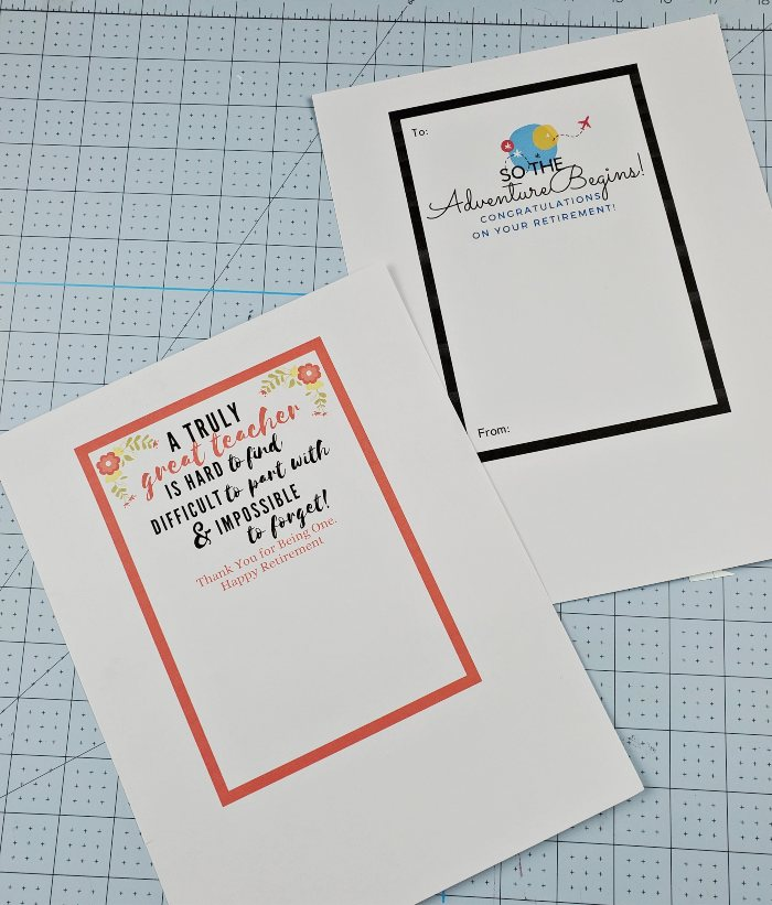 teacher retirement printables