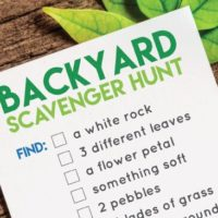 Printable Backyard Scavenger Hunt