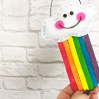How to Create a Kawaii Rainbow from Craft Sticks a CRAFTWEEK Tutorial