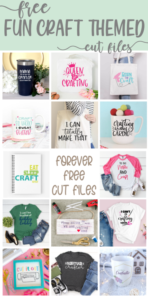 craft themed cut files collage