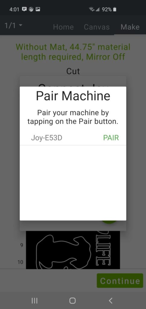 cricut joy app smartphone pair