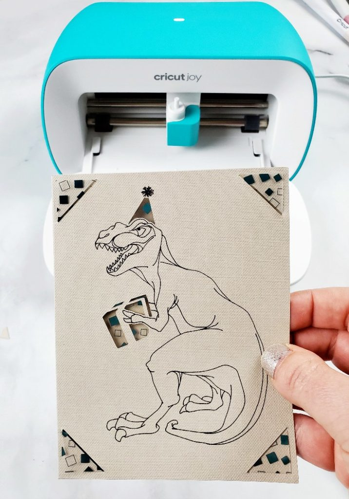 cricut joy dinosaur card