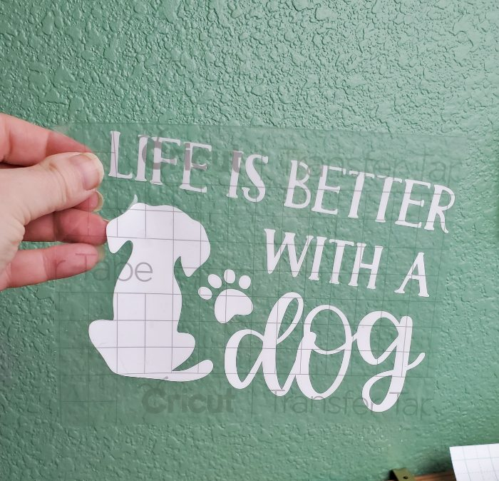 cricut joy wall decal dog