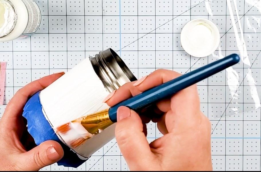 decoupage thermos