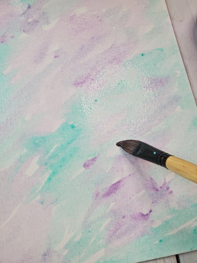 diy watercolor canvas