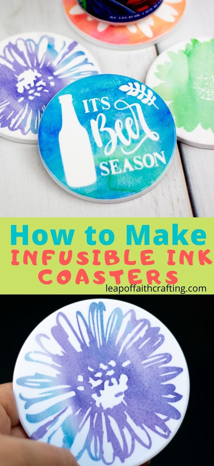 infusible ink coasters pinterest