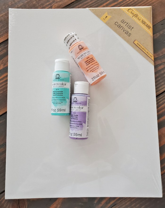 watercolor canvas diy