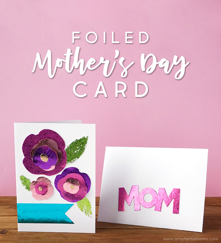 Foiled Mother's Day Card