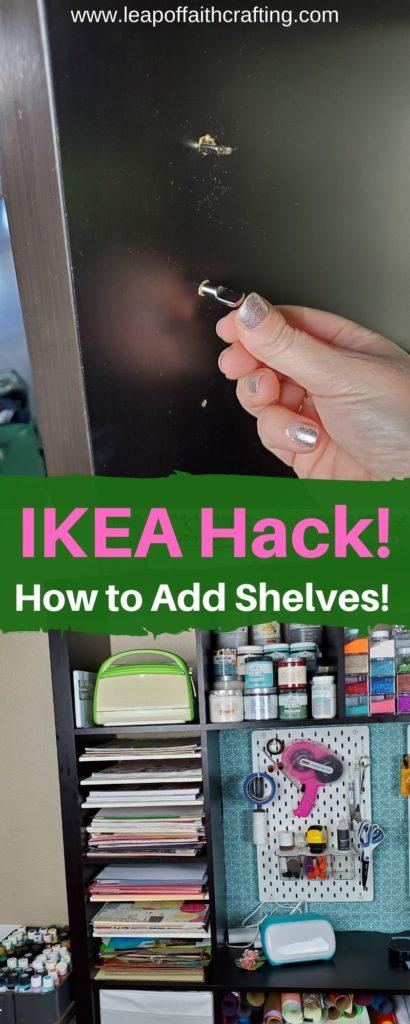 adding shelves to ikea kallax