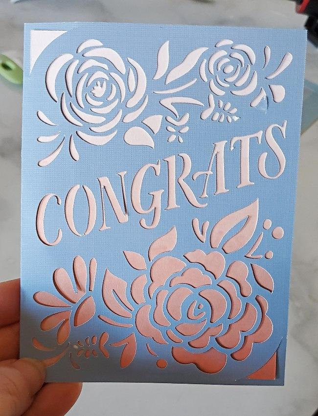 congrats cricut card