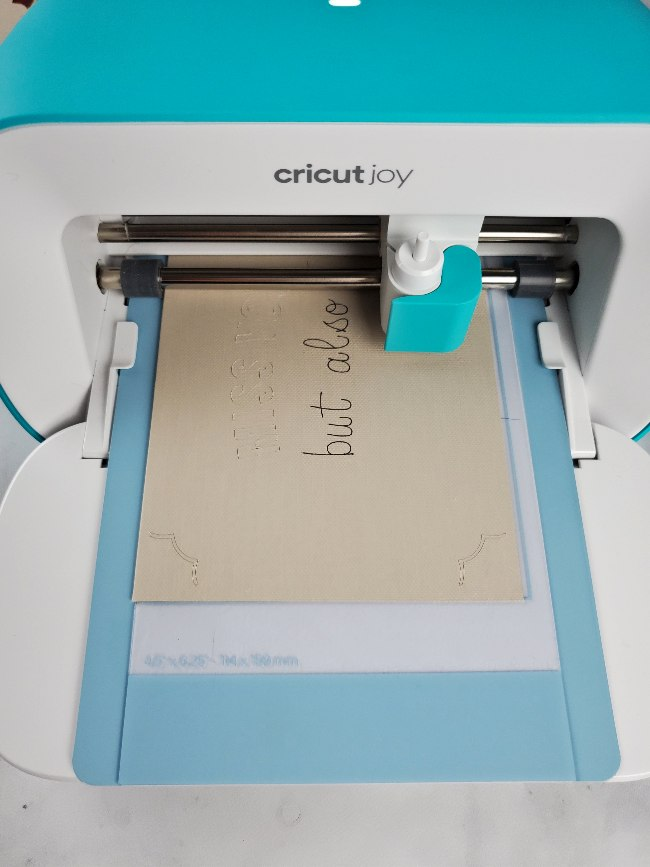 cricut joy custom card