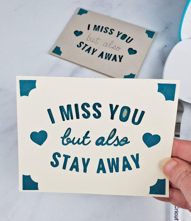 cricut joy custom card i miss you