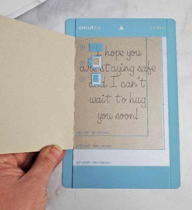 cricut joy custom card inside