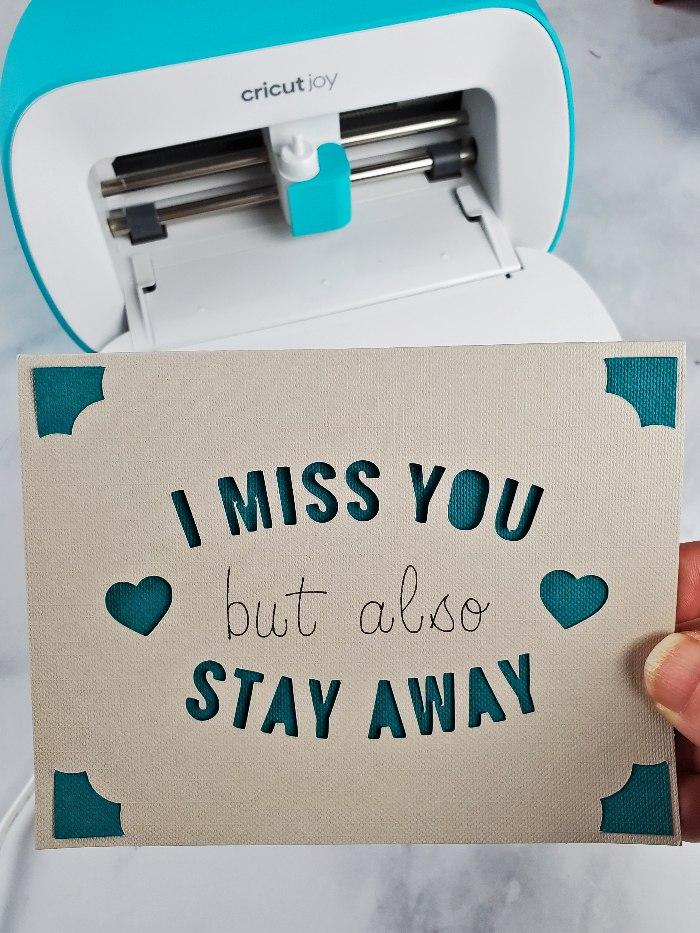 cricut miss you card