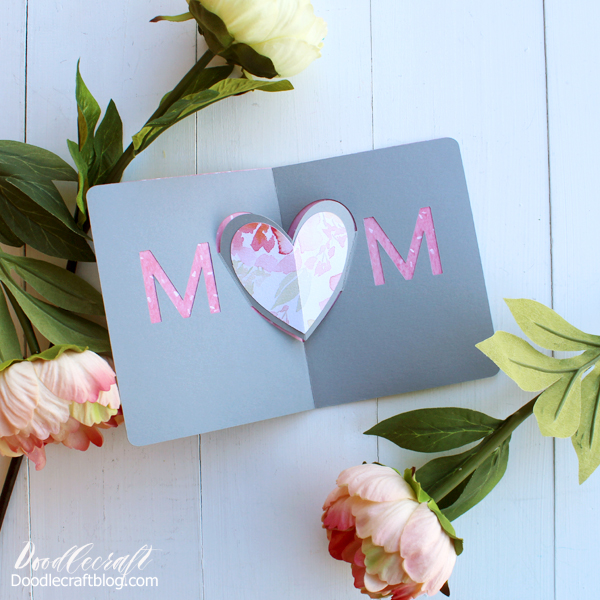 Mother's Day Heart Pop-Up Card DIY with Cricut Maker