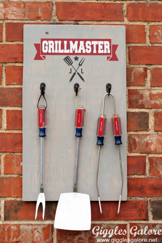 Grill Master Personalized Wood Sign