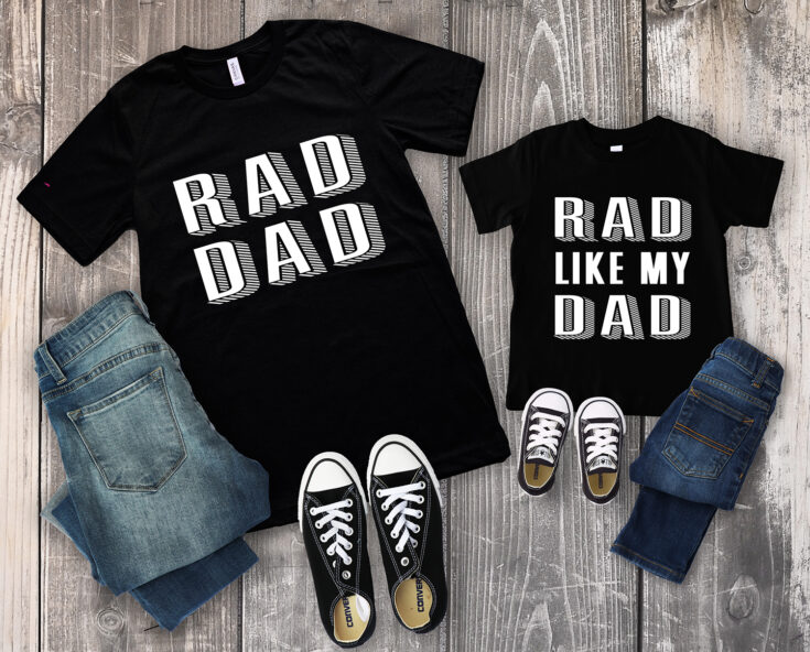 Rad Dad Father's Day Shirts + SVG Files