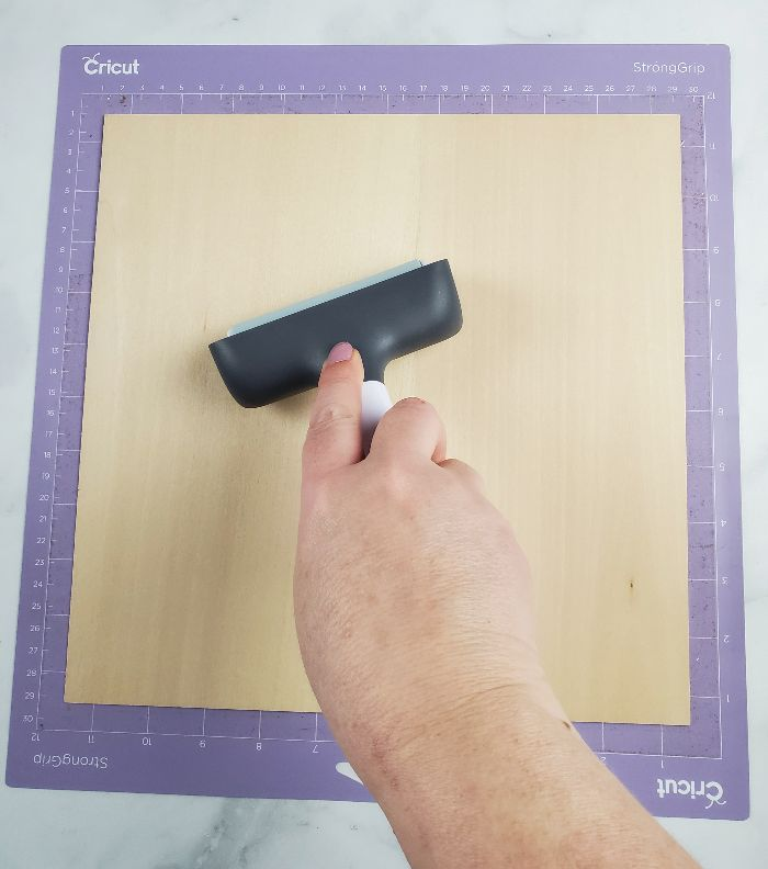 cutting wood with cricut maker