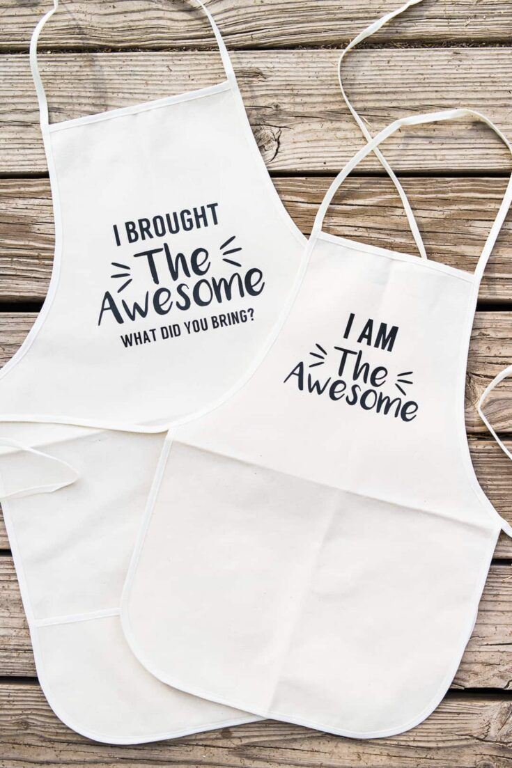Father's Day Matching Apron Set - Tried & True Creative