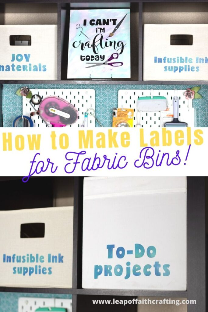 labels for fabric bins diy