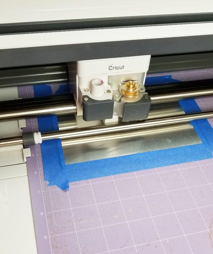 cricut engraving metal